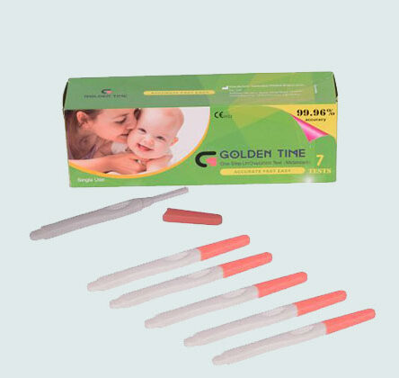 Golden Time One Step LH Ovulation Test Kit (Single Use) – 7 Pieces + one step pregnancy test kit